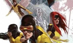Les super-héros de Stan Lee : Cyclope, Iceberg, Strange Girl, Angel et le Fauve.