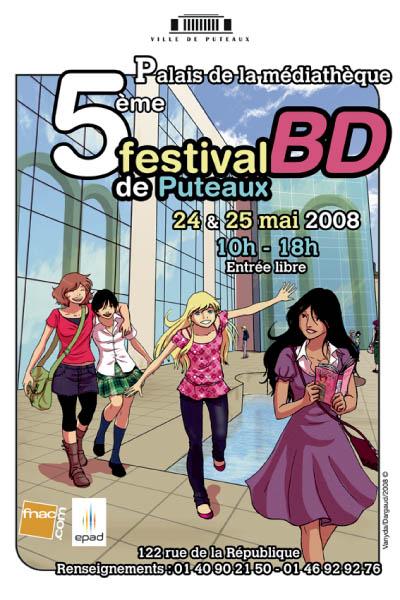 Affiche festival BD Puteaux 2008