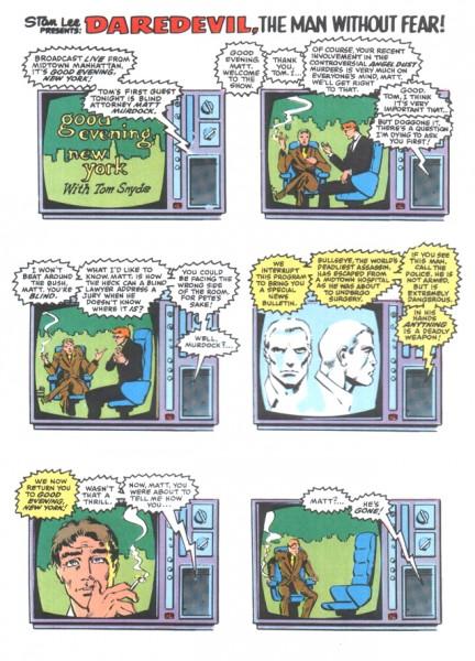 Frank Miller s'est inspiré de l'American Flagg! d'Howard Chaykin pour la narration via écrans TV.