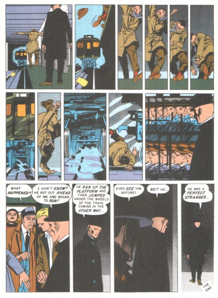 Bernard Krigstein surdécoupe ses planches BD.