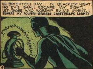 ... par la lumière de la lanterne verte !!