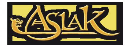 Le logo de la bande dessinée ASLAK