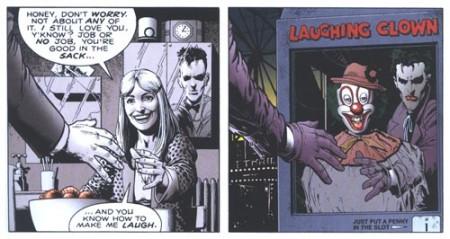 """""""Tu sais me faire rire"""" / clown rieur = la pente qui mène vers le Joker"""